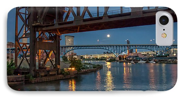 Evening On The Cuyahoga River IPhone Case by Brent Durken