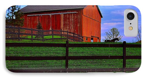 Evening On The Farm IPhone Case by Frozen in Time Fine Art Photography