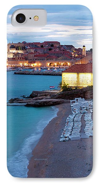 Evening Over Dubrovnik Phone Case by Rae Tucker