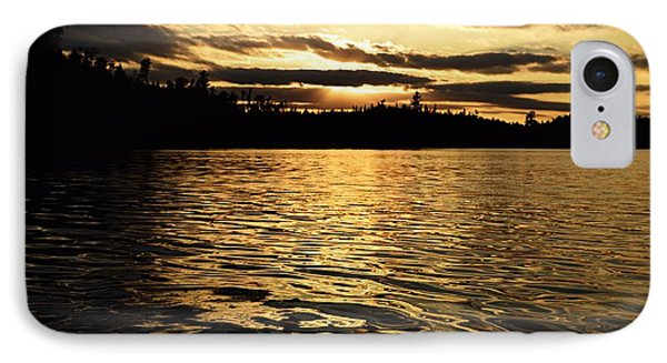IPhone Case featuring the photograph Evening Paddle On Amoeber Lake by Larry Ricker