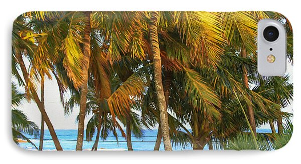 Evening Palms In Trade Winds Phone Case by Bonnie Follett