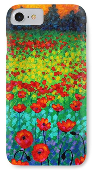 Evening Poppies Phone Case by John  Nolan