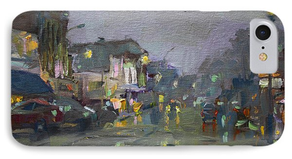 Evening Rain At Webster St IPhone Case by Ylli Haruni