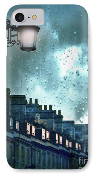 Evening Rainstorm In The City IPhone Case by Jill Battaglia