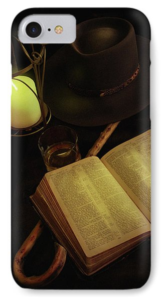 IPhone Case featuring the photograph Evening Reading by Ann Lauwers
