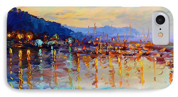 Evening Reflections In Piermont Dock IPhone Case by Ylli Haruni