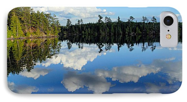 Evening Reflections On Spoon Lake IPhone Case by Larry Ricker