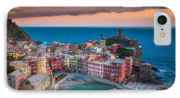 Evening Rolls Into Vernazza IPhone Case