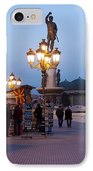 Evening Stroll In Skopje Phone Case by Rae Tucker