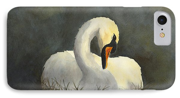 Evening Swan IPhone Case