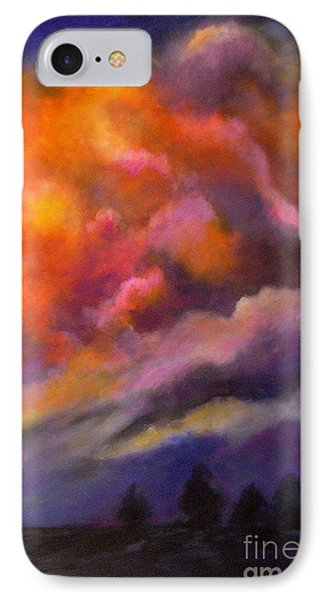 IPhone Case featuring the painting Evening Symphony by Alison Caltrider