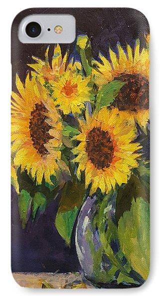 Evening Table Sun Flowers IPhone Case