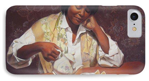 Evening Tea IPhone Case by Sue Halstenberg