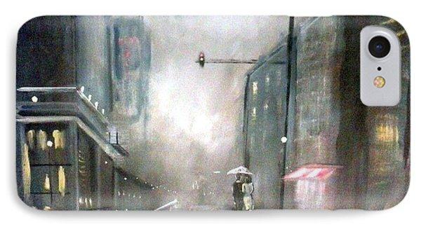 Evening Walk In The Rain IPhone Case