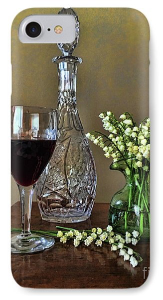 Evening Wine And Flowers  IPhone Case