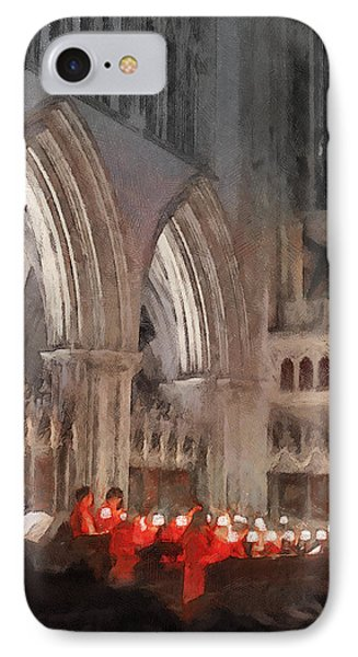 Evensong Practice At Wells Cathedral IPhone Case by Menega Sabidussi