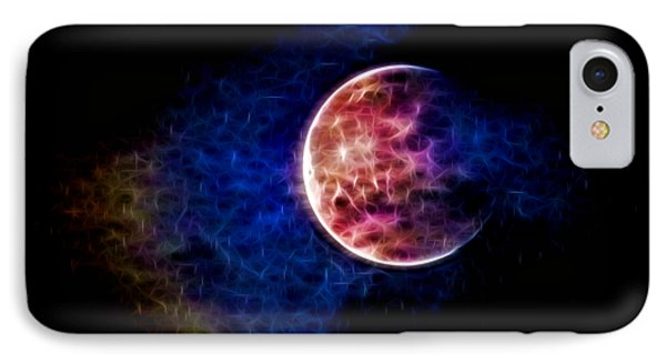 Ever Changing Moon Color Waves IPhone Case by Denise Beverly
