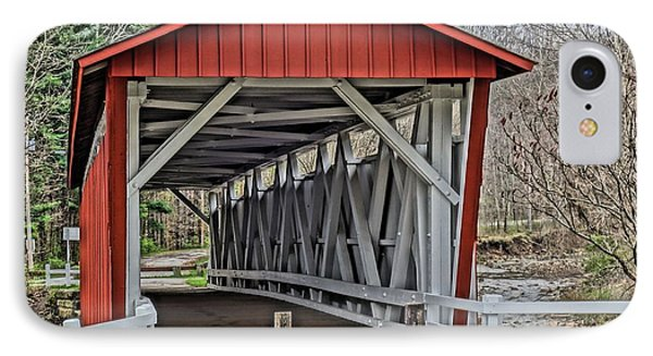Everett Covered Bridge IPhone Case by Dan Sproul