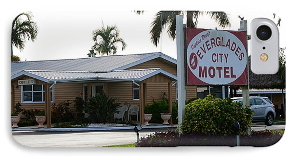 Everglades City Motel Sign IPhone Case by David Lee Thompson