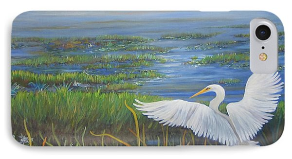 Everglades Egret IPhone Case by Anne Marie Brown