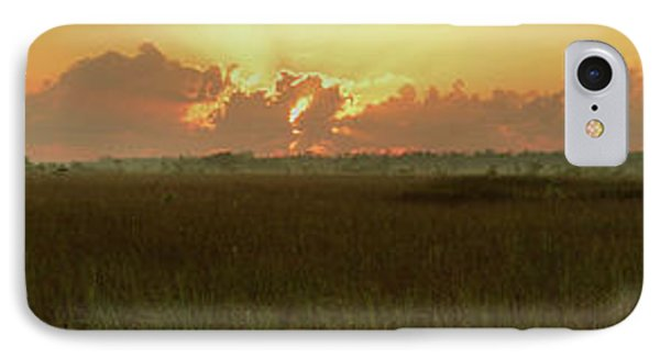IPhone Case featuring the photograph Everglades Sunrise Panorama by Stephen  Vecchiotti