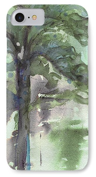 IPhone Case featuring the painting Evergreen by Dawn Derman