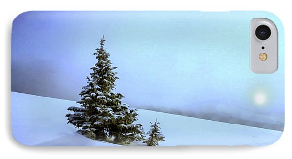 IPhone Case featuring the painting Evergreen Offspring P D P by David Dehner
