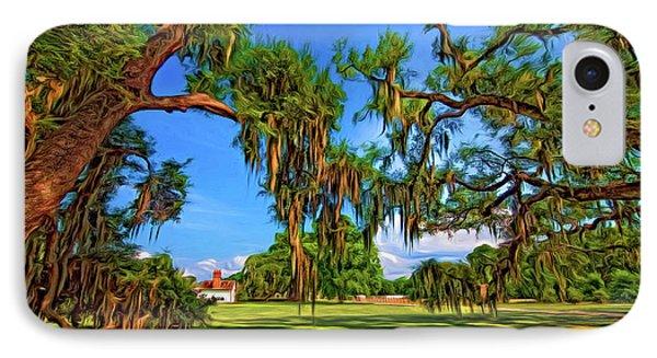 Evergreen Plantation - Paint IPhone Case by Steve Harrington