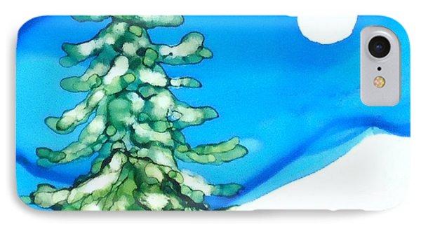 Evergreen Tree In Winter IPhone Case