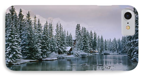 Evergreen Trees Covered With Snow IPhone Case by Panoramic Images