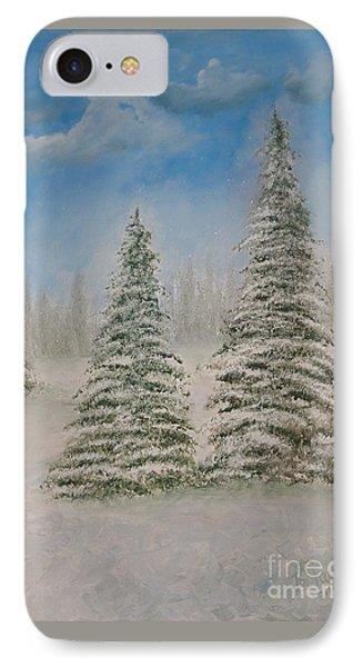 Evergreens In Snow  IPhone Case
