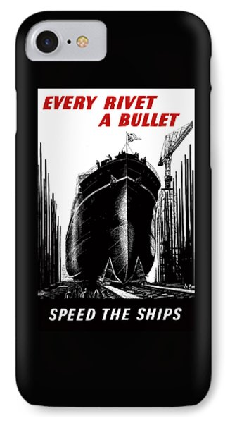 Every Rivet A Bullet - Speed The Ships IPhone Case by War Is Hell Store