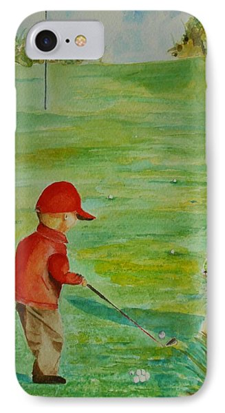 IPhone Case featuring the painting Everything Waits While I Golf Art by Geeta Biswas