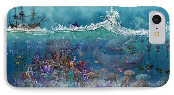 Everything Under The Sea IPhone Case by Betsy Knapp