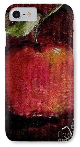 IPhone Case featuring the painting Eve's Apple.. by Jolanta Anna Karolska