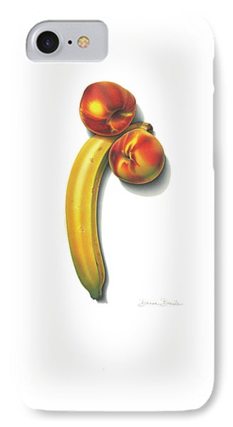 IPhone Case featuring the drawing Eve's Favorite Fruit by Donna Basile