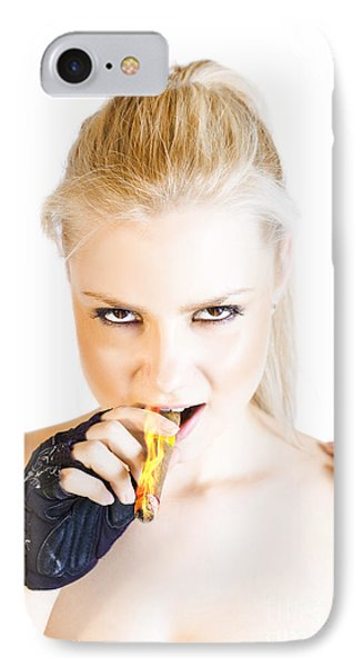 Evil Blonde Demon IPhone Case by Jorgo Photography - Wall Art Gallery
