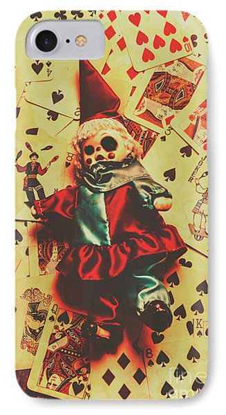 Evil Clown Doll On Playing Cards IPhone 7 Case