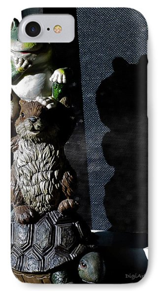 Evil Lurking In The Shadows IPhone Case