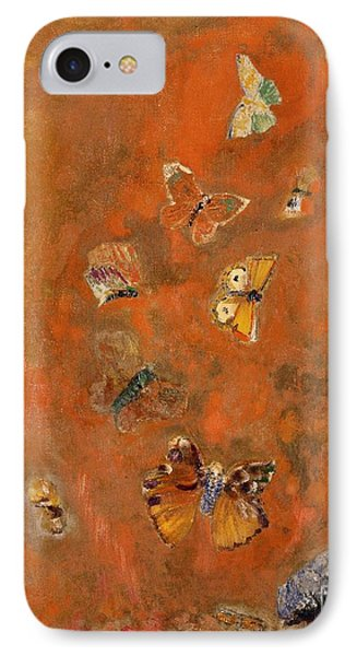 Surrealism iPhone 7 Case - Evocation Of Butterflies by Odilon Redon