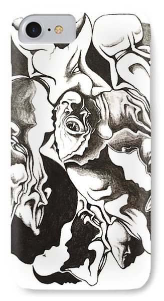 Evolution In Mind  IPhone Case by Michael  TMAD Finney