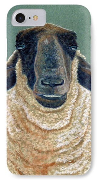 IPhone Case featuring the pastel Ewe Move Me Baby by Jan Amiss