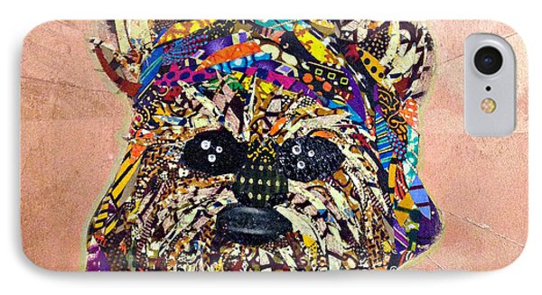 IPhone Case featuring the tapestry - textile Ewok Star Wars Afrofuturist Collection by Apanaki Temitayo M