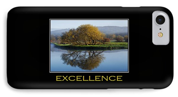 Excellence Inspirational Motivational Poster Art Phone Case by Christina Rollo