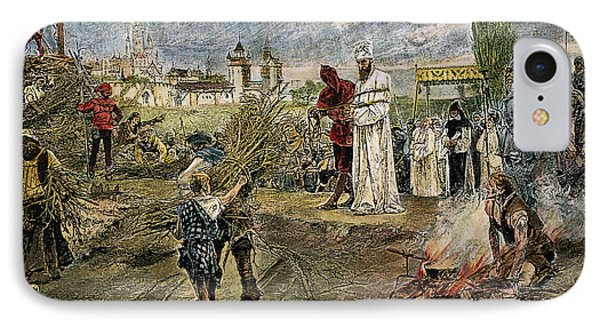 Execution Of Jan Hus, 1415 Phone Case by Granger