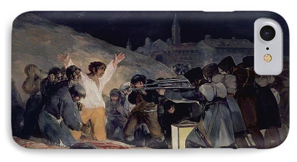 Execution Of The Defenders Of Madrid Phone Case by Goya