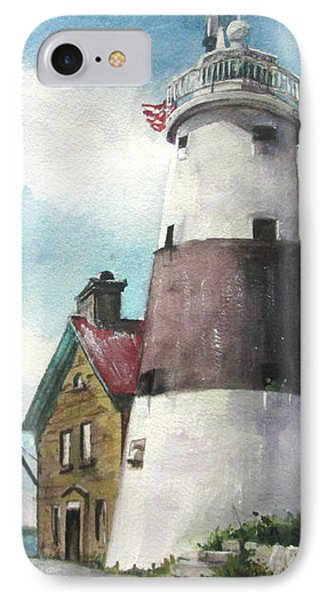 Execution Rocks Lighthouse Phone Case by Susan Herbst