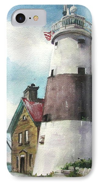 Execution Rocks Lighthouse IPhone Case by Susan Herbst