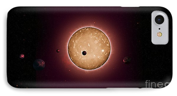 Exoplanet Kepler-444 Planetary System IPhone Case by Science Source
