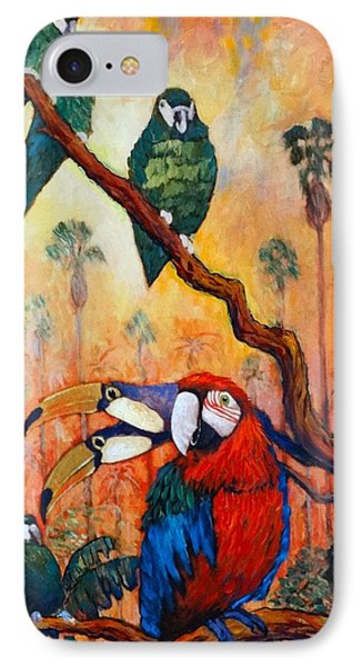 Exotic Birds Of South America  IPhone Case by Charles Munn